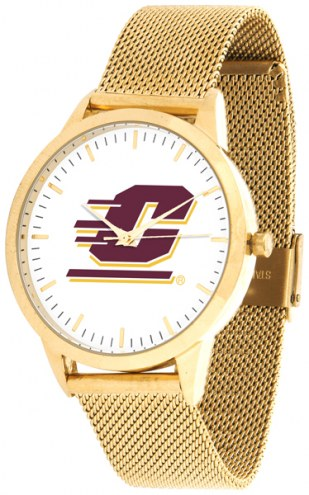 Central Michigan Chippewas Gold Mesh Statement Watch