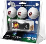 Central Michigan Chippewas Golf Ball Gift Pack with Spring Action Divot Tool