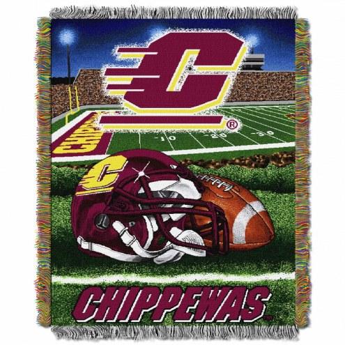 Central Michigan Chippewas Home Field Advantage Throw Blanket