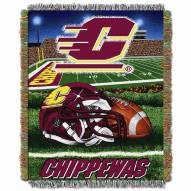 Central Michigan Chippewas Home Field Advantage Throw Blanket