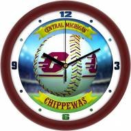 Central Michigan Chippewas Home Run Wall Clock