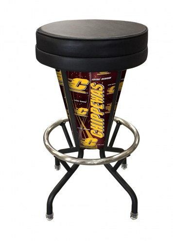 Central Michigan Chippewas Indoor/Outdoor Lighted Bar Stool