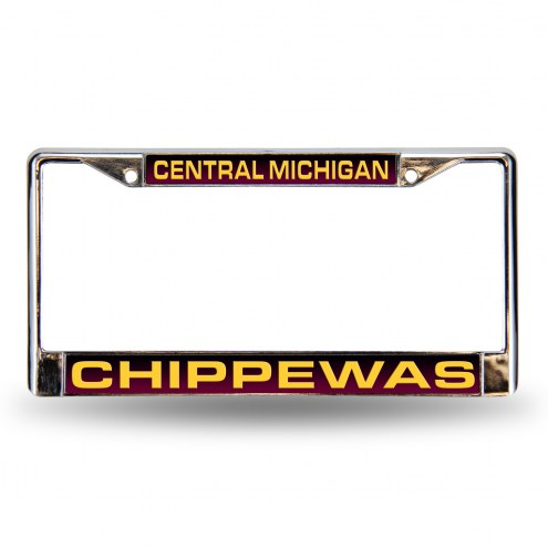 Central Michigan Chippewas Laser Chrome License Plate Frame