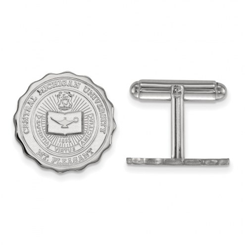 Central Michigan Chippewas NCAA Sterling Silver Cuff Links