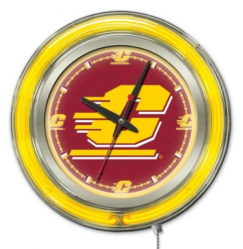 Central Michigan Chippewas Neon Clock