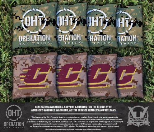 Central Michigan Chippewas Operation Hat Trick Cornhole Bag Set