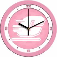 Central Michigan Chippewas Pink Wall Clock