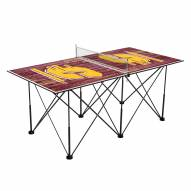 Central Michigan Chippewas Pop Up 6' Ping Pong Table