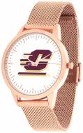 Central Michigan Chippewas Rose Mesh Statement Watch