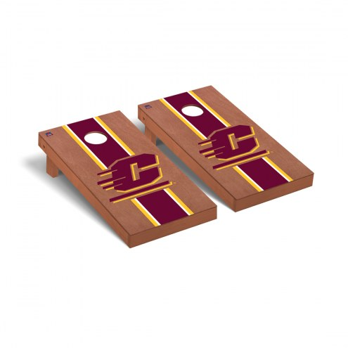 Central Michigan Chippewas Rosewood Stained Cornhole Game Set