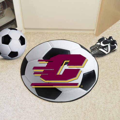 Central Michigan Chippewas Soccer Ball Mat
