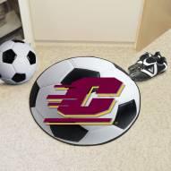 Central Michigan Chippewas Soccer Ball Mat