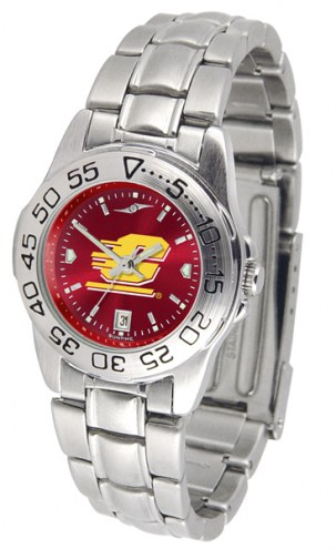 Central Michigan Chippewas Sport Steel AnoChrome Women's Watch