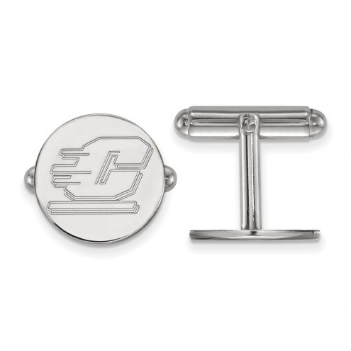 Central Michigan Chippewas Sterling Silver Cuff Links