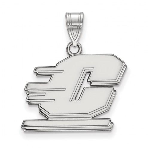 Central Michigan Chippewas Sterling Silver Medium Pendant