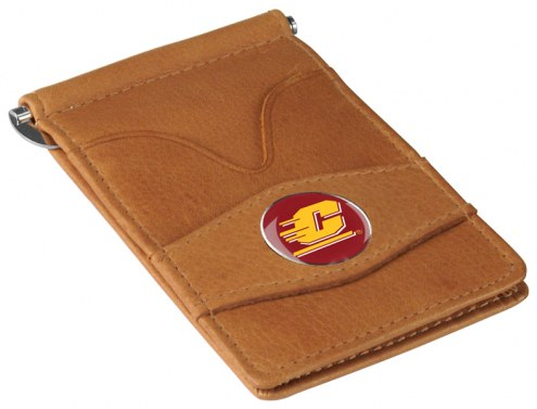 Central Michigan Chippewas Tan Player's Wallet