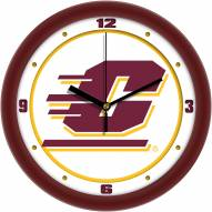Central Michigan Chippewas Traditional Wall Clock