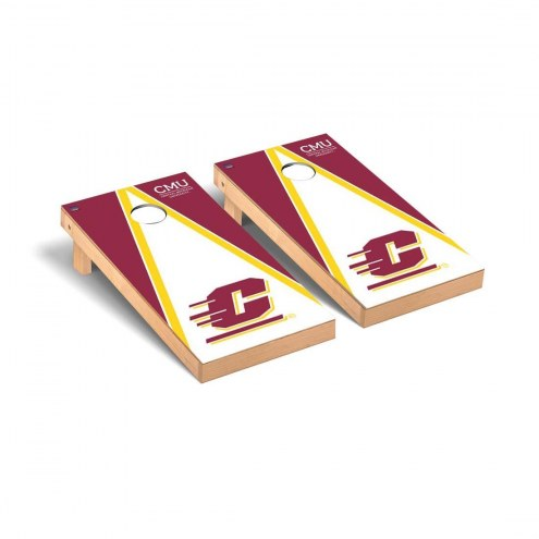 Central Michigan Chippewas Triangle Cornhole Game Set