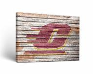 Central Michigan Chippewas Weathered Canvas Wall Art