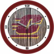Central Michigan Chippewas Weathered Wood Wall Clock