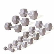 Champion Barbell Solid Hex Dumbbell Set