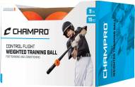 "Champro 9"" Control Flight Weighted Balls - Dozen"
