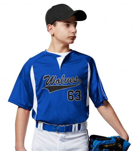 78beb1c0f Champro Wild Card Two Button Youth Custom Baseball Jersey. $9.00Blank  (12-40 pieces)