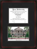College of Charleston Diplomate Framed Lithograph with Diploma Opening