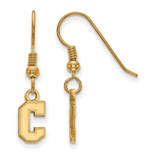 Charleston Cougars Sterling Silver Gold Plated Extra Small Dangle Earrings