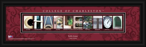 Charleston Cougars Personalized Campus Letter Art