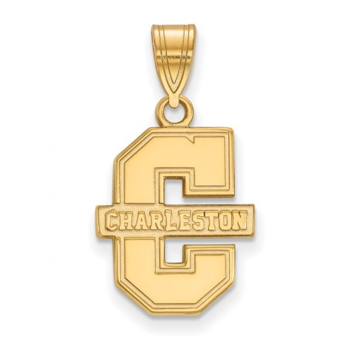 Charleston Cougars Sterling Silver Gold Plated Medium Pendant