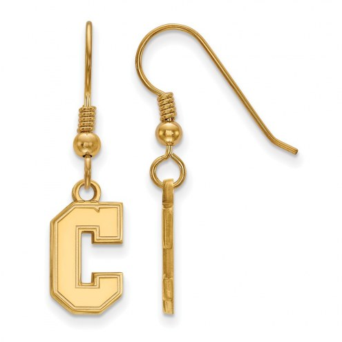 Charleston Cougars Sterling Silver Gold Plated Small Dangle Earrings