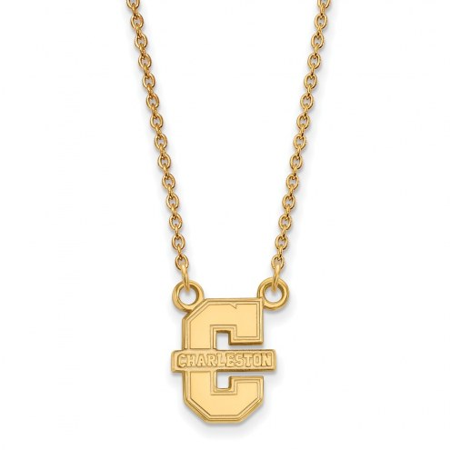 Charleston Cougars Sterling Silver Gold Plated Small Pendant Necklace