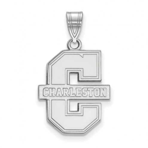 Charleston Cougars Sterling Silver Large Pendant