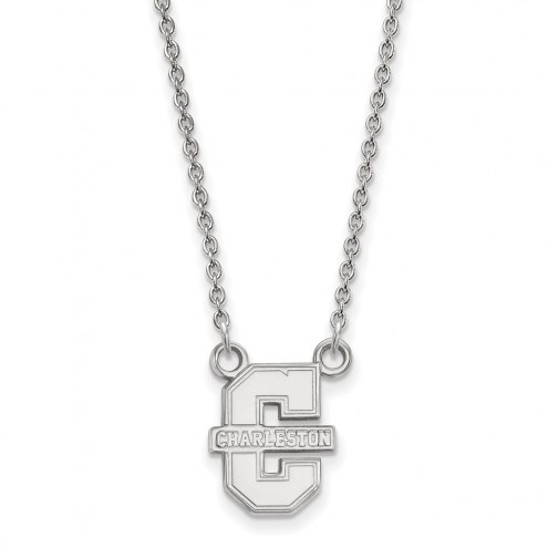 Charleston Cougars Sterling Silver Small Pendant Necklace