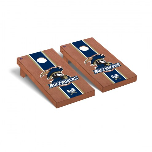 Charleston Southern Buccaneers Rosewood Stained Stripe Cornhole Game Set
