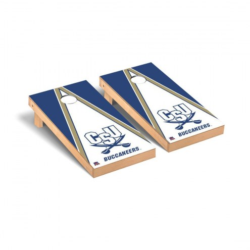 Charleston Southern Buccaneers Triangle Wooden Cornhole Game Set