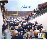 Charlie Weis Watching Team Walk out of Tunnel 8 x 10 Photo
