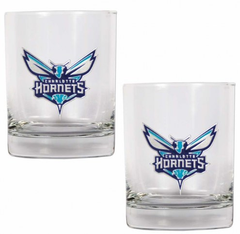 Charlotte Hornets NBA 2-Piece 14 Oz. Rocks Glass Set