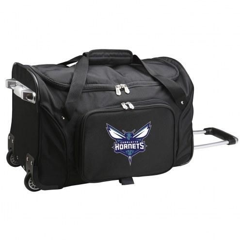 "Charlotte Hornets 22"" Rolling Duffle Bag"