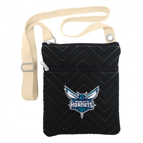 Charlotte Hornets Chevron Stitch Crossbody Bag