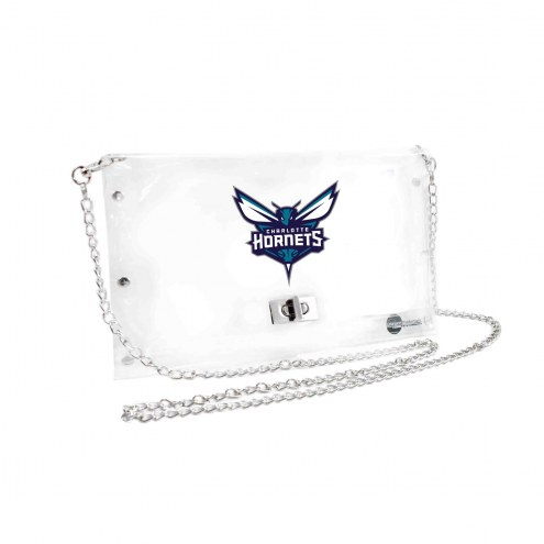 Charlotte Hornets Clear Envelope Purse