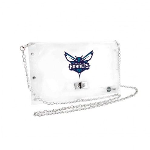Charlotte Hornets Clear Envelope Purse