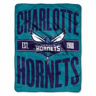Charlotte Hornets Clear Out Throw Blanket