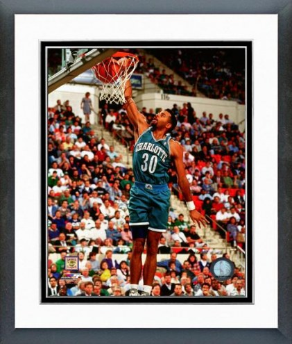 Charlotte Hornets Dell Curry Action Framed Photo