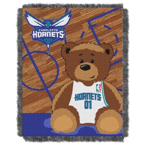 Charlotte Hornets Half Court Baby Blanket