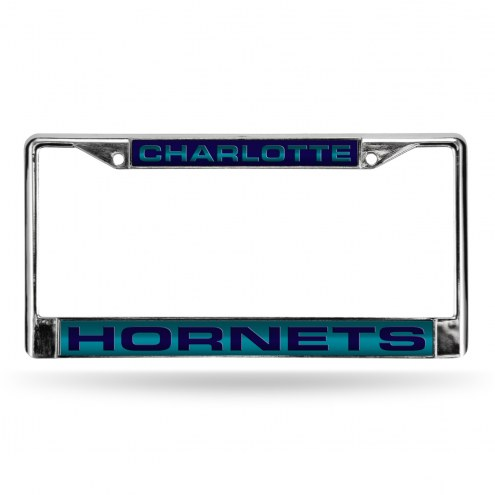 Charlotte Hornets Laser Chrome License Plate Frame