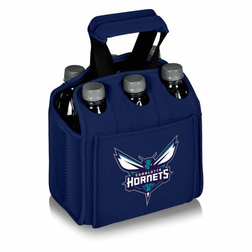 Charlotte Hornets Navy Six Pack Cooler Tote