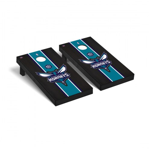 Charlotte Hornets Onyx Stained Cornhole Game Set
