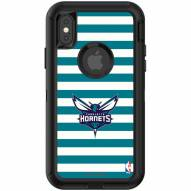 Charlotte Hornets OtterBox iPhone X/Xs Defender Stripes Case